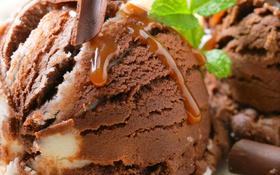 Картинка лето, мята, шоколадное мороженое