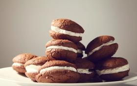 Обои печенье, выпечка, шоколадное