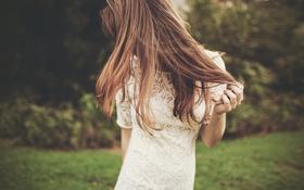 Картинка девушка, платье, волосы