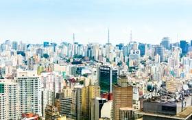 Обои Мегаполис, фото, Город, San Paulo, Дом, Бразилия