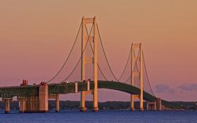 Картинка мост, Мичиган, опора, США