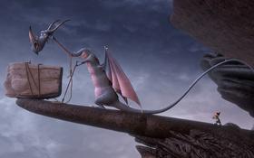 Обои мультфильм, обрыв, гном, Der 7bte Zwerg, 7-ой гном, приключение, дракон