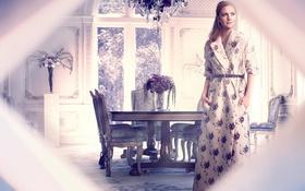Картинка комната, интерьер, платье, актриса, Drew Barrymore, Дрю Бэрримор, InStyle