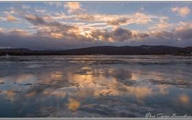 Обои пейзаж, природа, зимний пейзаж, первый лед
