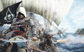 Картинка пират, ассасин, эдвард, Assassin's Creed IV: Black Flag, черный флаг