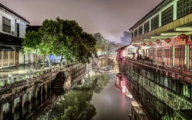 Обои ночь, город, Китай, Шанхай, night, china, shanghai