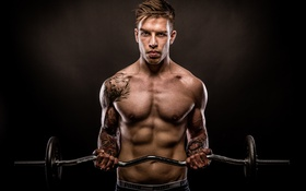 Обои power, muscles, tattoos, fitness