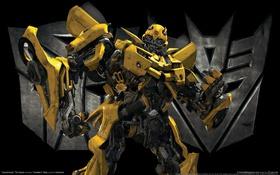 Обои chevrolet camaro, трансформеры, бамблби, Transformers