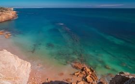 Обои скалы, вода, море