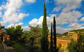 Обои Gerona, Испания, дома, фото, город, небо