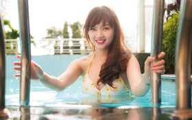 Картинка девушка, улыбка, азиатка