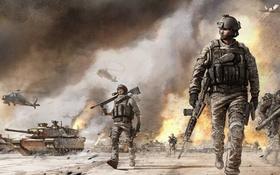 Обои истребитель, солдаты, танки, ИГРА, вертолёты, Modern War
