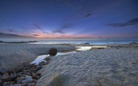 Обои beach, ocean, sunset, cloud