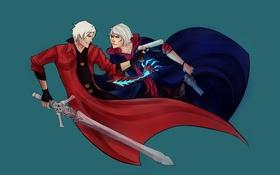 Картинка Dante, Nero, Devil May Cry 4, capcom