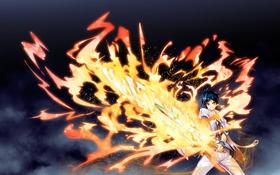 Картинка youta, mayoeru futari to sekai no subete, парень, арт, аниме, меч, магия