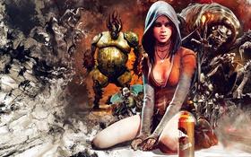 Обои DmC, девушка, Devil May Cry 5, Кэт, Kat, медиум, монстры