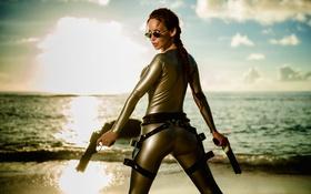 Картинка Tomb Raider, Bianca Beauchamp, beach, cosplay, latex
