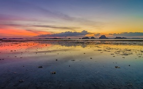 Обои krabi, thailand, sunset, ocean, beach