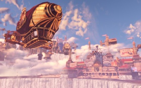 Картинка игра, дирижабль, airship, Bioshock, Infinite, Биошок
