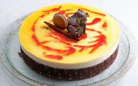 Обои сладость, выпечка, тортик