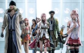 Обои Sarah, Final Fantasy XIII, Lightning, Snow, Vanille, Hope, FF13