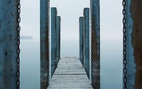 Обои опоры, мост, озеро