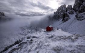 Картинка природа, горы, дом