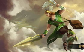 Обои бог, меч, Heroes of Newerth, Scout, Hermes