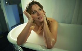 Обои актриса, ванна, Allison Brennan