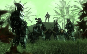 Обои джунгли, броня, Killzone, шлемы, fan art, edi, Dr. Eva