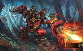 Обои робот, гномы, heroes of newerth, Dredger Chipper, Dredger