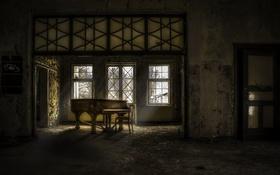 Обои музыка, комната, пианино