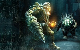 Обои big, daddy, bioshock