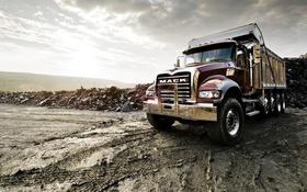 Обои камни, Mack, берег, Granite, грузовик