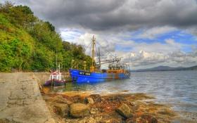 Обои камни, Fahan, hdr, Ирландия, обработка, побережье, Donegal