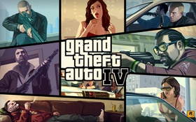 Обои GTA IV, cover, Niko Bellic, Нико Беллик, gta, Grand Theft Auto IV, Grand Theft Auto