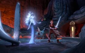 Обои мультфильм, меч, принц, колдунья, приключение, 7-ой гном, Der 7bte Zwerg