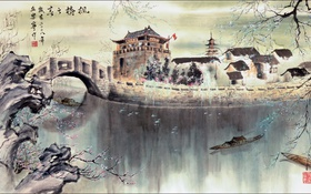 Обои арт, пейзаж, Китай