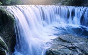 Обои Камень, Природа, Водопады
