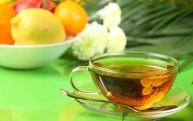 Обои лимон, вкусно, Чай