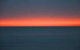 Обои розовое небо, горизонт, море