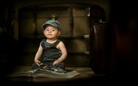 Картинка мальчик, настроение, взгляд