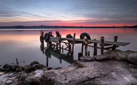 Обои ночь, природа, Italy, Bolsena Lake