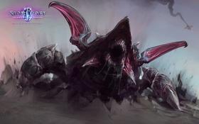 Обои Blizzard, StarCraft 2, Зерги, Heart of the Swarm