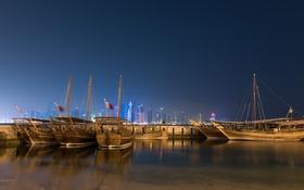 Обои Qatar, Sail Boats, Doha