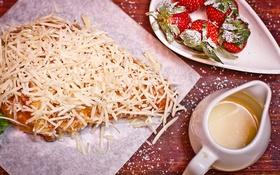 Обои сыр, молоко, клубника, хлеб, bread, milk, cheese