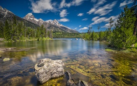 Обои grand teton, wyoming, usa, lake, mountain