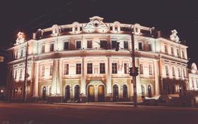 Обои ночь, город, Калуга, Kaluga