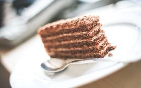 Обои ложка, торт, пирожное, десерт