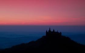 Обои пейзаж, ночь, Germany, Burg Hohenzollern